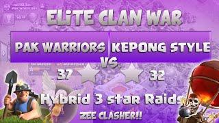 "Clash Of Clans | ELITE WAR - Pak Warriors vs KEPONG STYLE - 6 x 3 Stars Attacks ""TH11 vs TH11"""