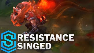 Resistance Singed Skin Spotlight - Pre-Release - League of Legends