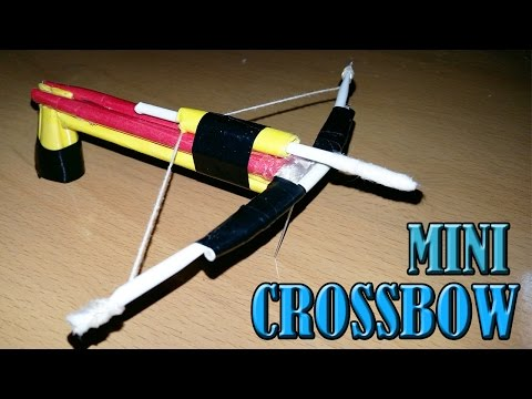 How To Make A Mini  Crossbow - Paper Weapons