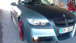BMW e90 tuning Frozen Grey / Schwarz Matt(BMW e90 320d Tuning. Etwas anders, Schaf im Wolfspelz =) Mal eben ein kleines Video gemacht - Sorry für die wackler., 2013-04-15T11:17:55.000Z)