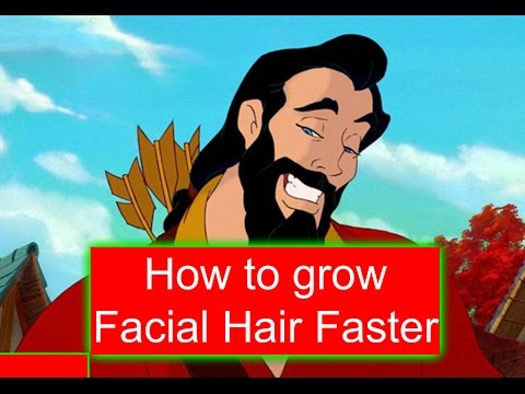 Grow facial hair faster