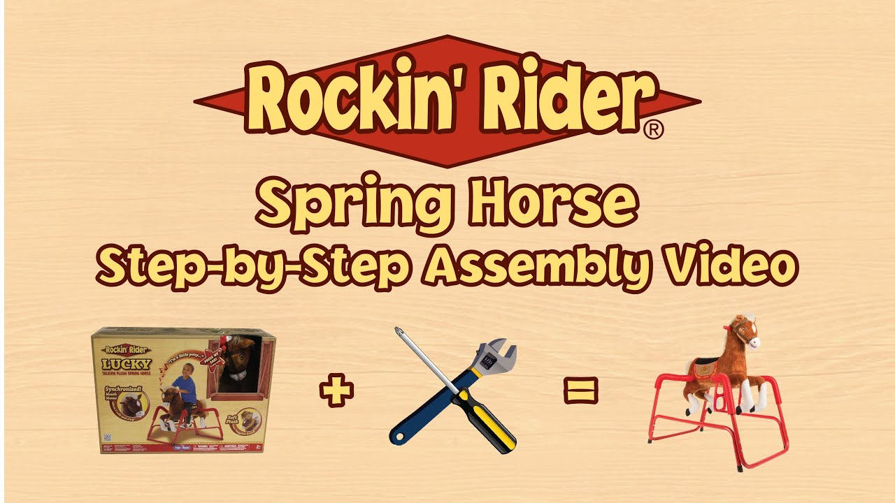 Rockin\' Rider Spring Horse Assembly Instructions - YouTube