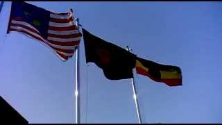 Nepalese Flag In front of Third World Center Building