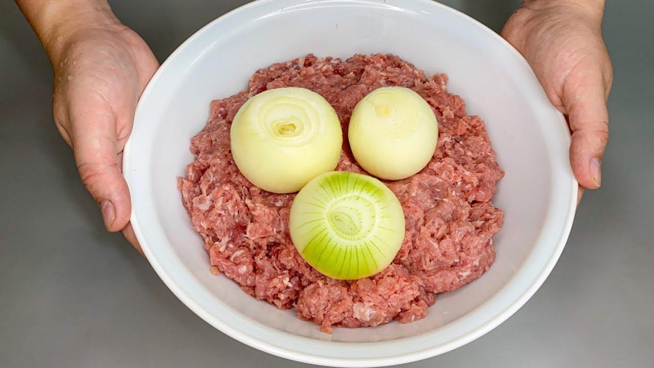 Беру ФАРШ, Много ЛУКА и готовлю Очень ВКУСНОЕ Мясное блюдо!