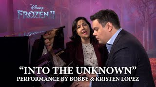 "Frozen 2 ""Into the Unknown"" Full Performance by Bobby Lopez & Kristen Anderson-Lopez"