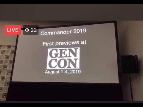 COMMANDER 2019 - FIRST SPOILERS during Gen-Con