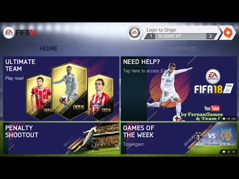 FIFA 18 Mod FIFA 14 V7 Android Offline New Kit New Squad New Menu