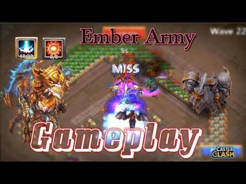 Skeletica Ember Army Gameplay OP! Castle Clash