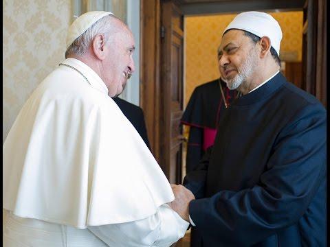 أخبار عربية - شيخ #الأزهر و #بابا الفاتيكان يدعوان أتباع الأديان إلى نبذ #العنف