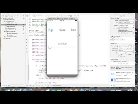 Swift : Use a slider to control audio speed in Swift
