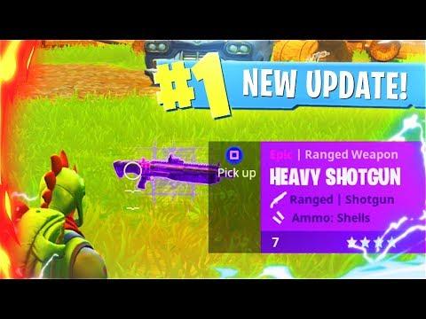 New HEAVY SHOTGUN Update! New Fortnite Battle Royale Shotgun Update Countdown! (New Fortnite Update)
