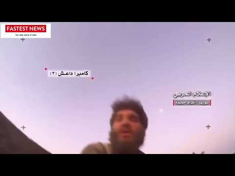 Caught on GoPRO : ISIS group hit by SAA Tank shell