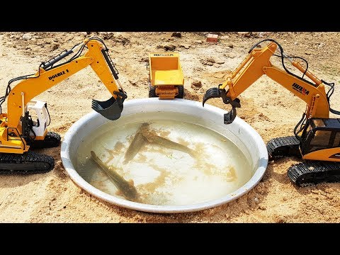Fun Excavator Toy Catch Real Fish | Car Toys | Toys For Kids TV