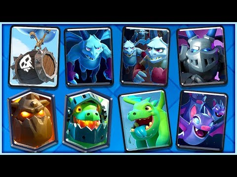EPIC SKELETON BARREL ALL AIR DECK - Clash Royale