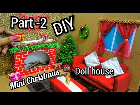 DIY Miniature Christmas Doll House | DIY Mini Christmas Tree Decorations | Tiny Holiday Decor Ideas