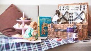 Pebbles The Bear meets a new friend at The Esplanade Hotel, Newquay!