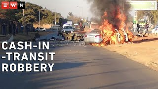 Allegedly, a group of suspects attacked a cash-in-transit van with the use of explosive in Kagiso Drive in Krugersdorp. The suspects were reported to have escaped with an undisclosed amount of money. Cash was scattered on the road which led to looting.