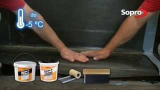 Wykonowanie izolacji przeciwwodnej i przeciwilgociowej fundamentów - system bitumy Sopro