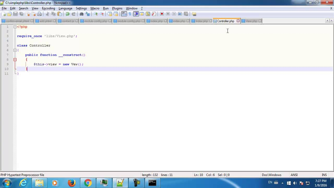 Start Creating a Very Basic and Simple PHP MVC Framework From Scratch