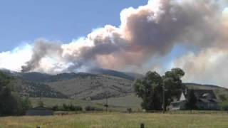 More Raw Video of a fire burning near Pony, MT on June 24, 2012