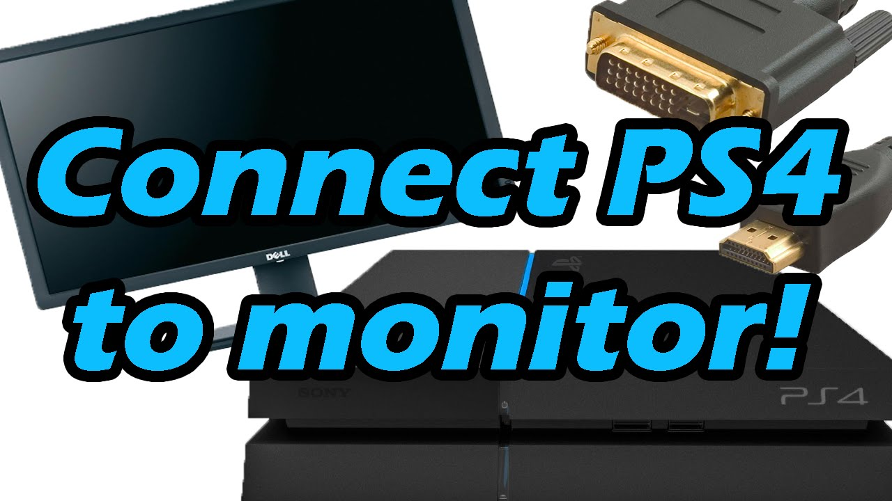 How-to: Connect your PlayStation 4 (or any HDMI output) to a monitor (HDMI  to DVI with Audio)
