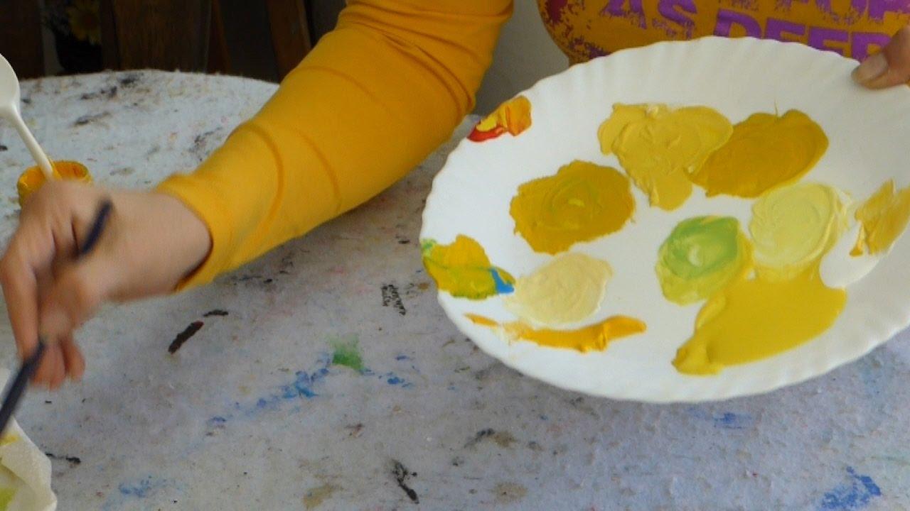C mo hacer diferentes amarillos mezclar colores youtube - Como hacer colores ...