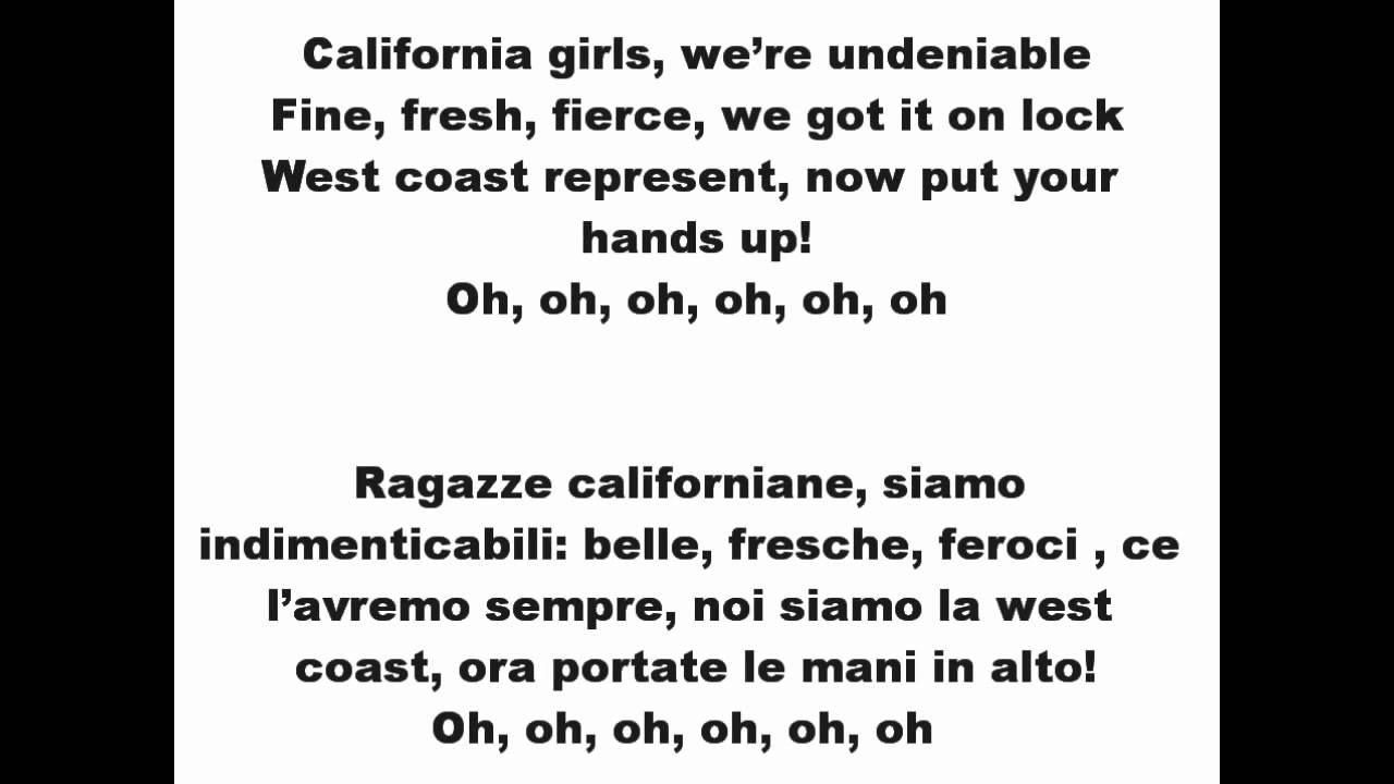 Katy Perry - California Gurls Lyrics | MetroLyrics