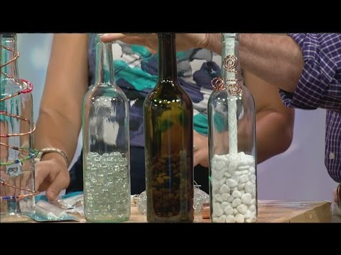 DIY wine bottle 'tiki' torch