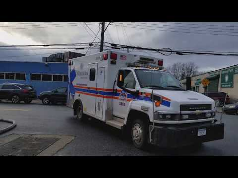 Maimonides Medical Center Emergency Services On Scene Of A 2 Alarm Fire In Flatbush, Brooklyn, NY