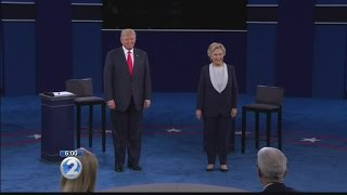 Clinton, Trump face off in debate brimming with tension