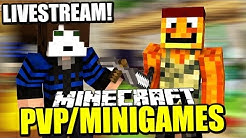 Minecraft PvP + MiniGames Livestream mit GermanLetsPlay & Paluten