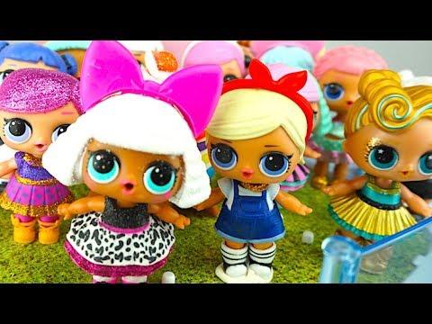 Сюрпризы и куклы ЛОЛ, открываем серию глитер