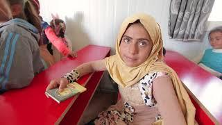 Открытие школы для сирийских беженцев в Ливане, посещение сирот, раздача гуманитарной помощи