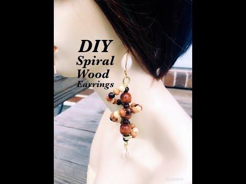 #diy#spiral#wood#earrings PART 1
