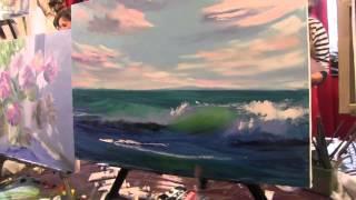 Игорь Сахаров, научиться рисовать маслом море, морской пейзаж