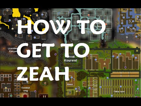 How to get to Great Kourend ( Zeah ) OSRS - YouTube