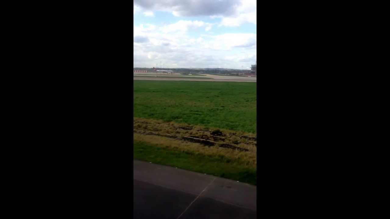 Gatwick airport landing.