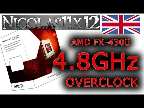 Amd Fx 4300 4 8ghz Overclock Review Youtube
