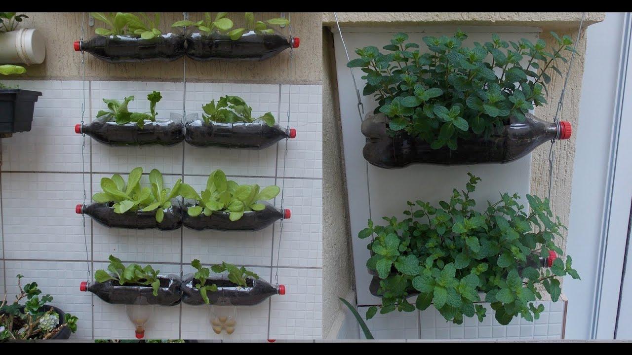 Conhecido Como Fazer uma Horta com Garrafas Pet, passo a passo - YouTube SN02