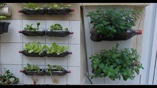 Como fazer uma Horta Vertical usando Garrafas Pet