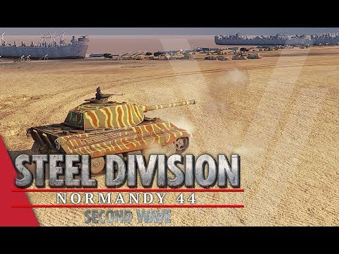 King Tiger's On Holiday! Steel Division: Normandy 44 Gameplay (Omaha, 4v4)