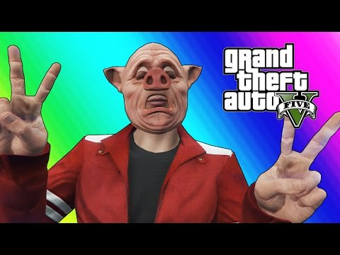 Thumbnail: GTA 5 Online Funny Moments - Body Glitch & Bald Piggy!