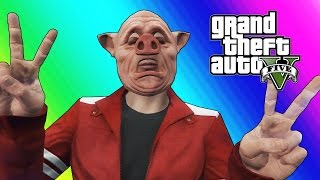 GTA 5 Online Funny Moments - Body Glitch & Bald Piggy! thumbnail