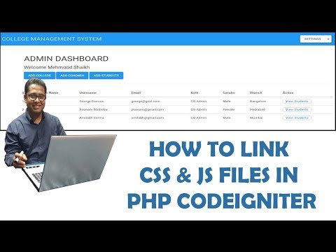 How to set Bootstrap CSS and JS files with Codeigniter Project Part-3