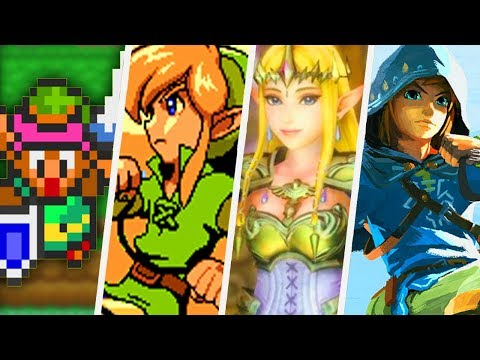 Evolution of The Legend of Zelda Intros (1986 - 2017) - All Intro Animations