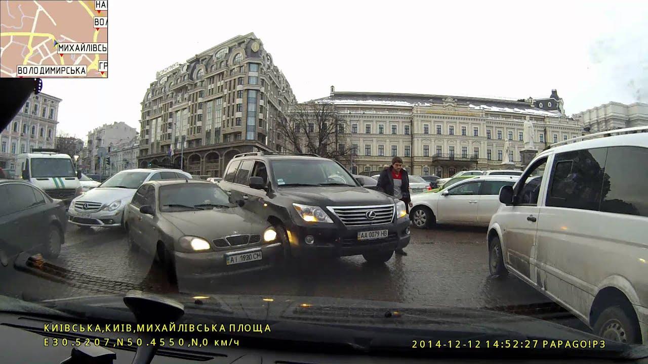 Lexus LX АА0079НВ и Daewoo Lanos AI1920CM Киев Михайловская