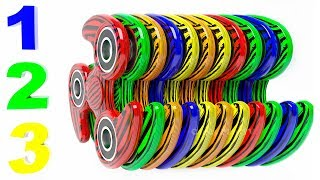 Learn Colors with 3D Fidget Spinners for Kids | 3D Animation | Learn to Count for Children