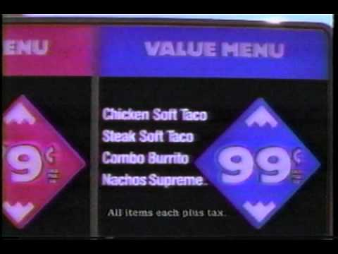 Retro Taco Bell Commercial (1992)