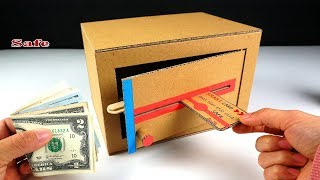 How to Make Personal Safe from Cardboard with Smart Card - Cardboard craft