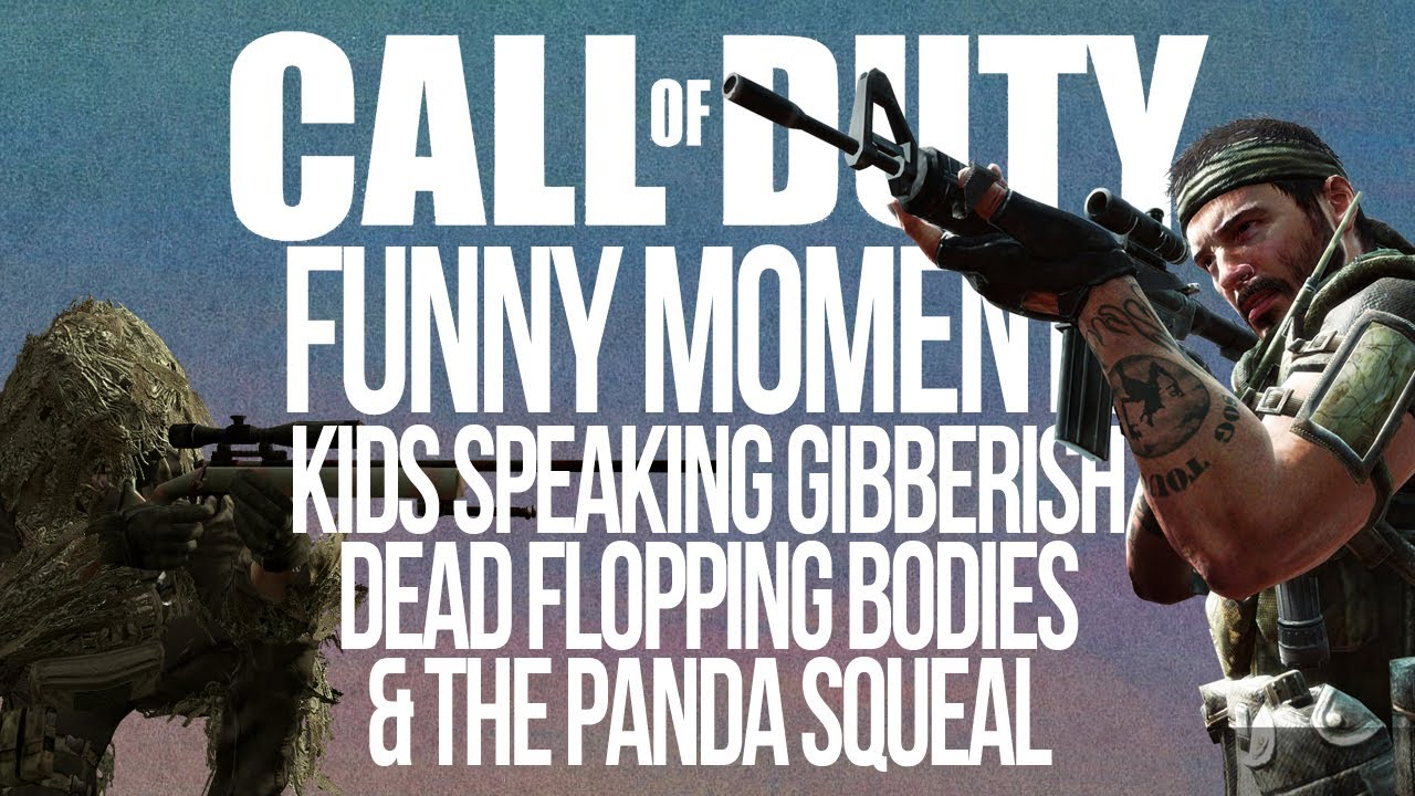 Call of Duty Funtage: Speaking Gibberish, Body Floppers and Panda Squeals!  - YouTube